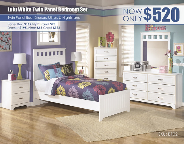 Lulu Twin White Panel Bed_B102-21-26-46-52-51-82-92-SD