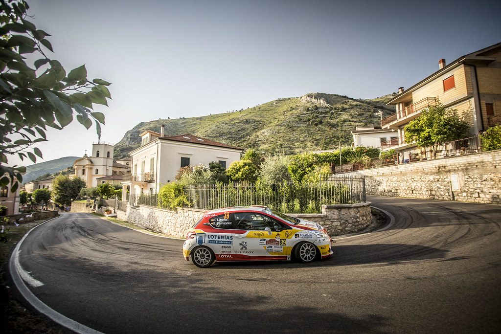 39 LLARENA Efren (esp), FERNANDEZ Sara (esp), Peugeot 208, action during the 2018 European Rally Championship ERC Rally di Roma Capitale,  from july 20 to 22 , at Fiuggi, Italia - Photo Gregory Lenormand / DPPI