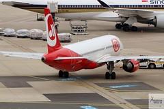Air Berlin (Niki titles) A320-214 D-ABHH pushing back at DUS/EDDL