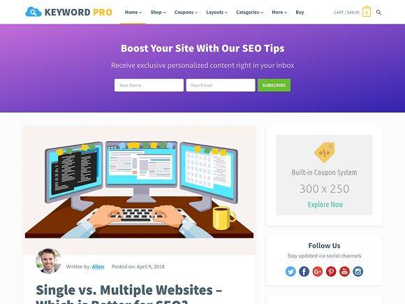 Keyword Pro v1.3 - Blog WordPress Theme