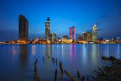 Ho Chi Minh City skyline and the Saigon River, Vietnam