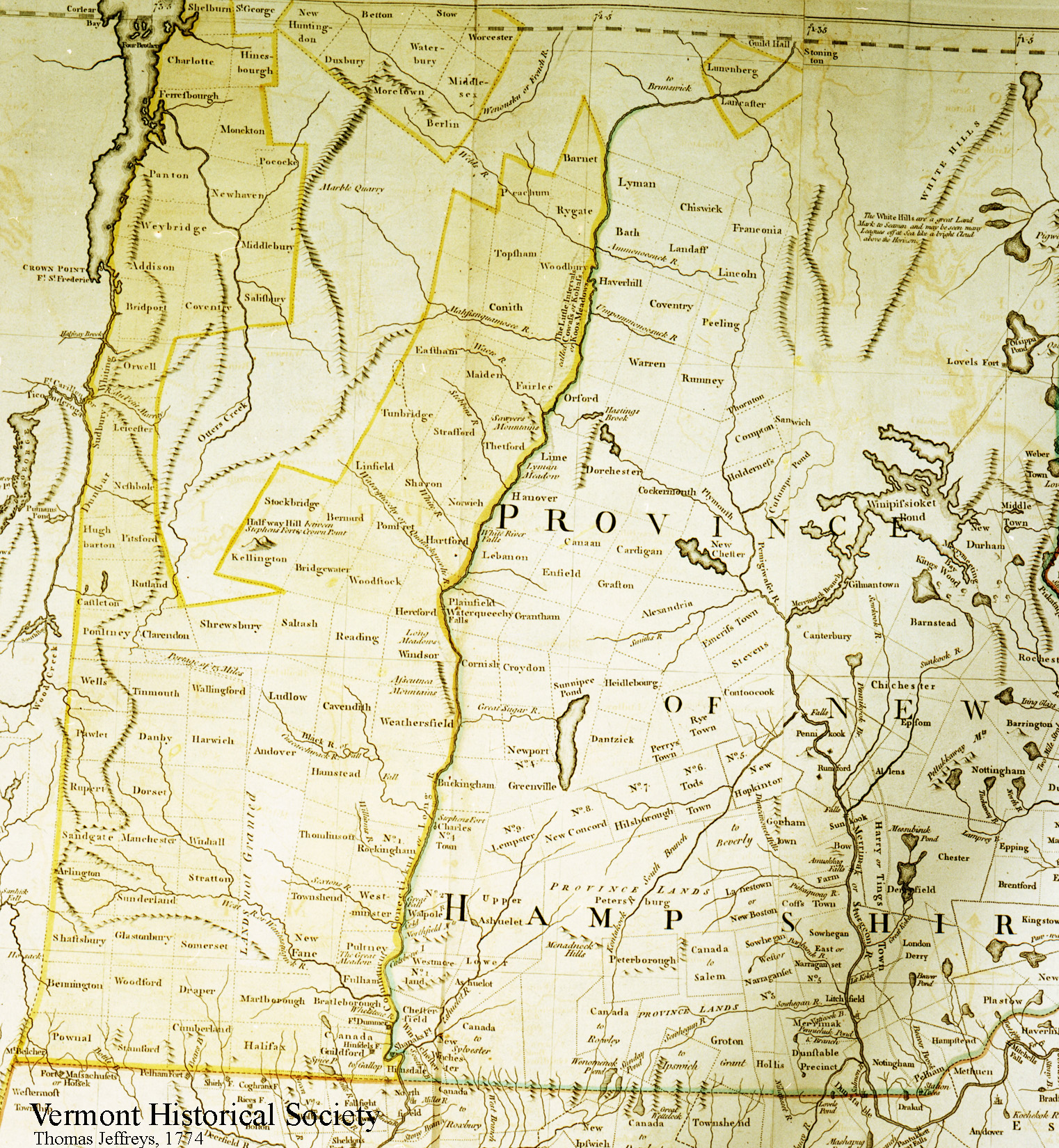 Early map of the Province of New Hampshire