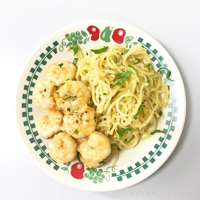 Shrimp Scampi with Sweet Potato Noodles 2