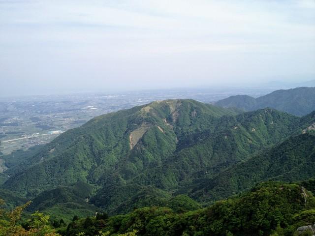 鎌ヶ岳 山頂から入道ヶ岳