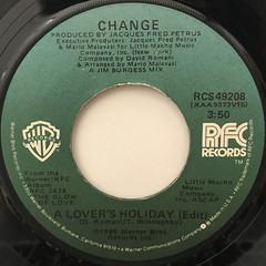 CHANGE:A LOVER'S HOLIDAY(LABEL SIDE-A)