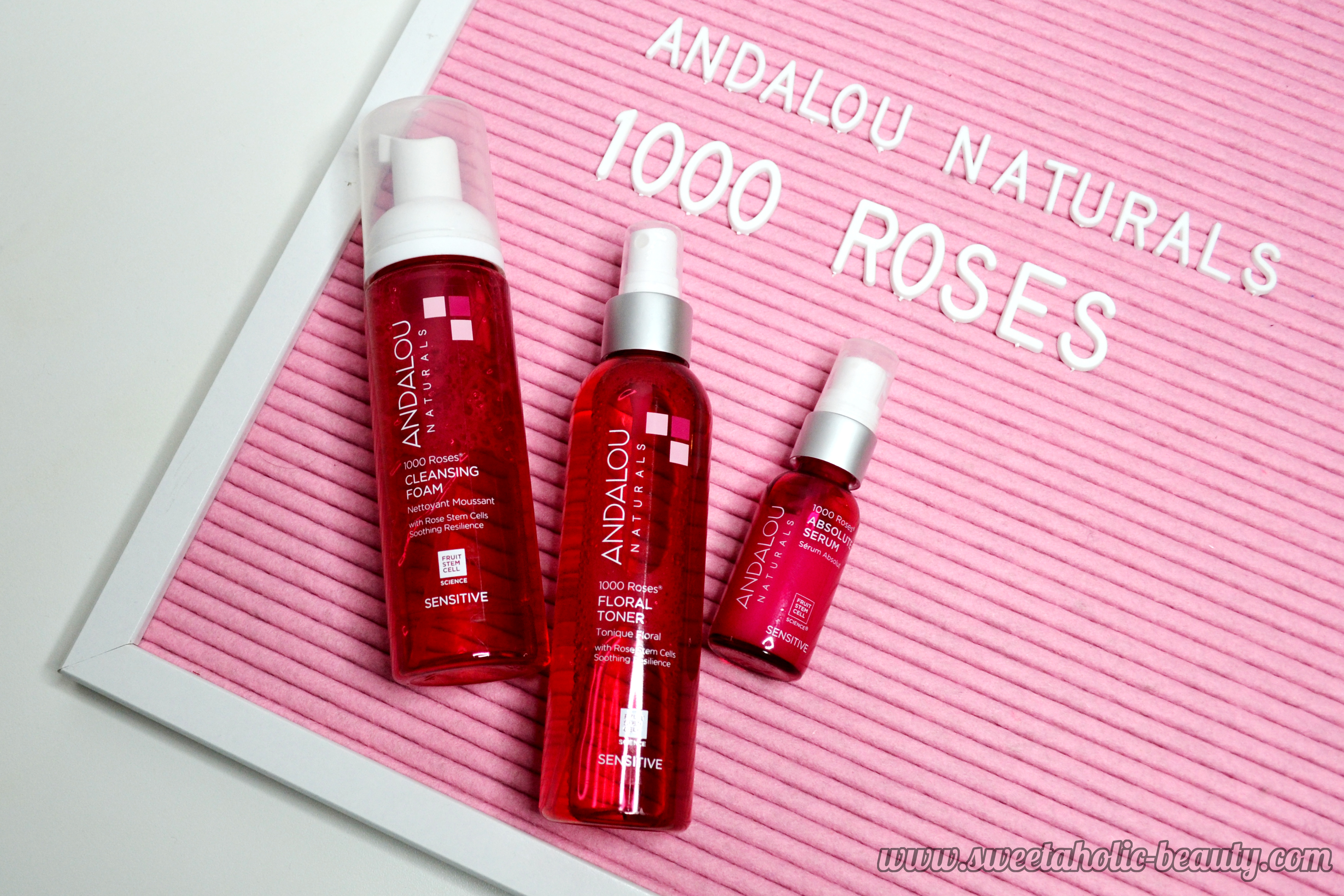 Andalou Naturals 1000 Roses Range - Full Review - Sweetaholic Beauty