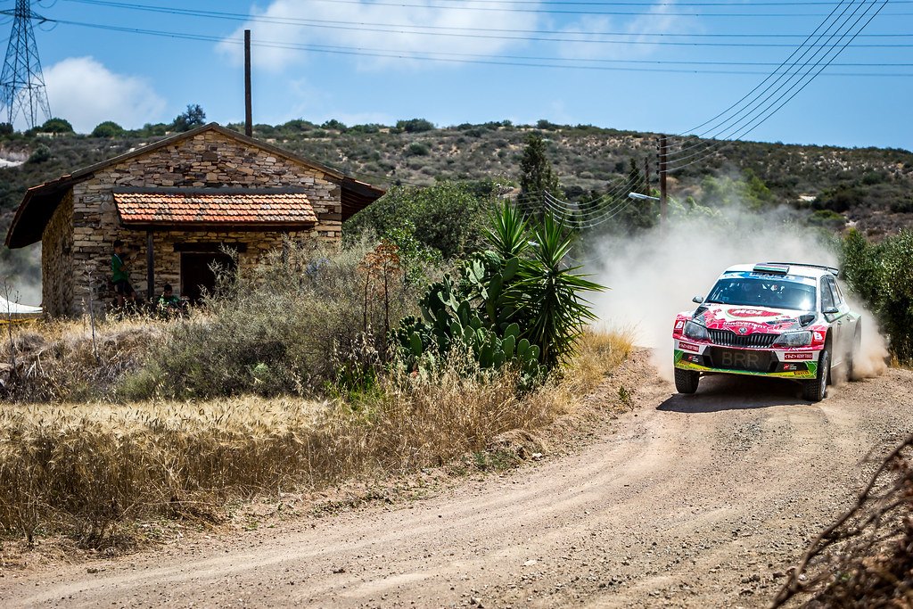04 HERCZIG Norbert (HUN), FERENCZ Ramon (HUN), MoL RACING, SKODA FABIA R5, action during the 2018 European Rally Championship ERC Cyprus Rally,  from june 15 to 17 at Larnaca, Cyprus - Photo Thomas Fenetre / DPPI