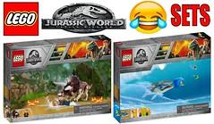 Funny Lego Jurassic World Fallen Kingdom Sets !!!