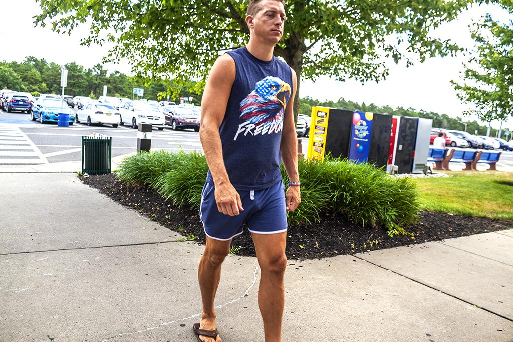 Man in Freedom shirt--Hammonton