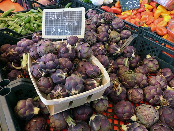 marché forville artichauts