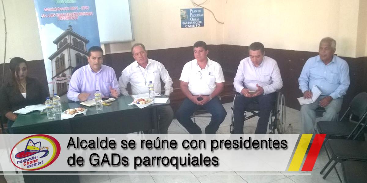 Alcalde se reúne con presidentes de GADs parroquiales