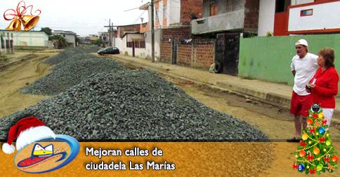 Mejoran calles de ciudadela Las Marías