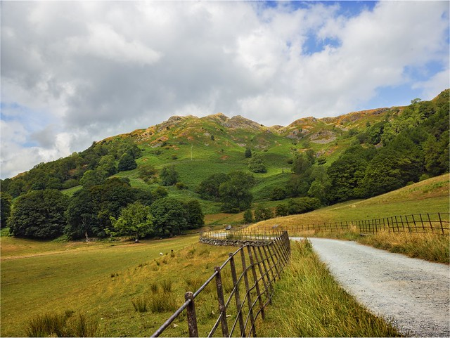 The open Road Walkers paradise  Loughrigg Tarn Lake District