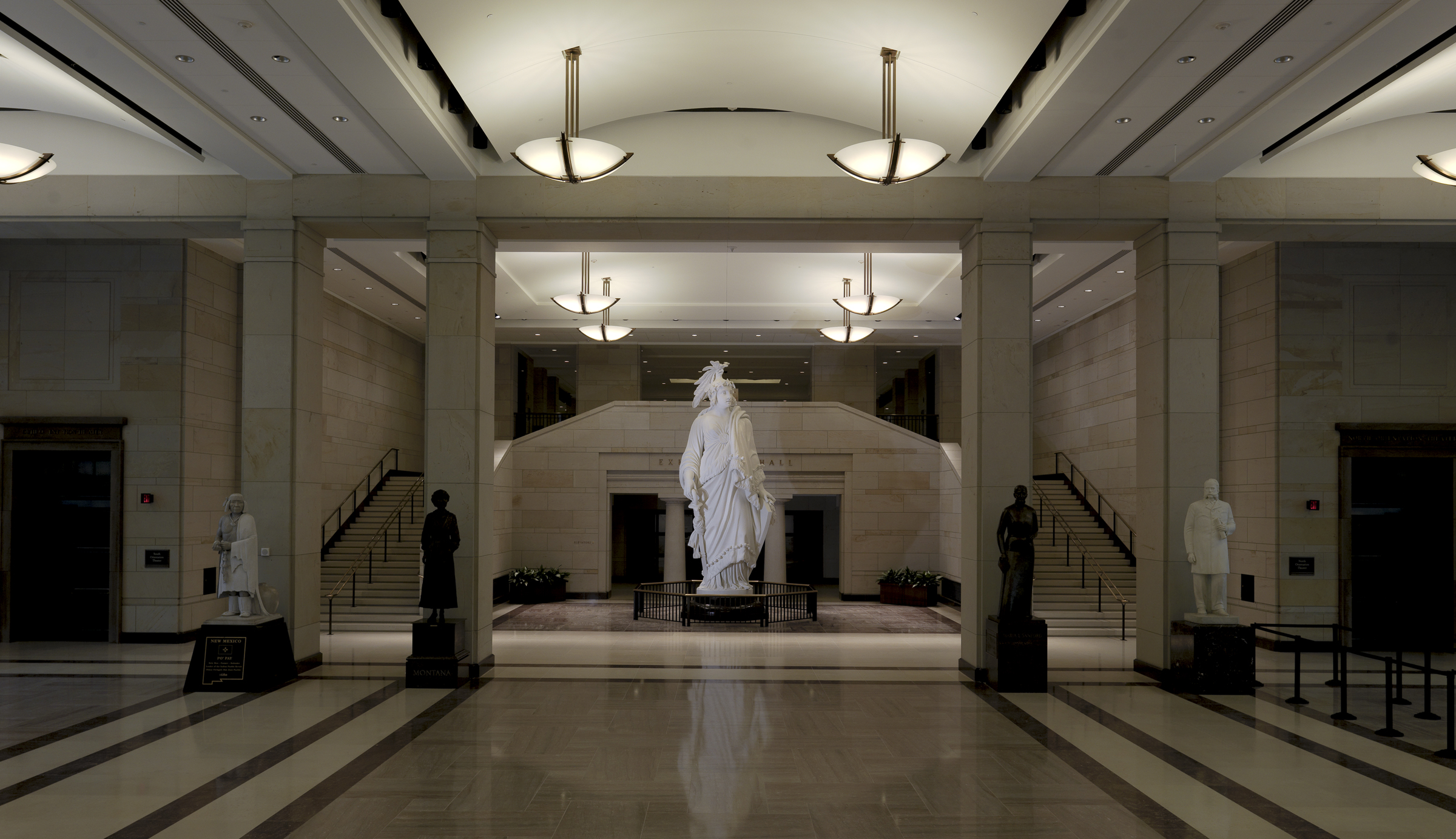 Statue of Freedom's plaster model in Emancipation-Hall of the Capitol Visitor Center. Photo taken on October 27, 2008.