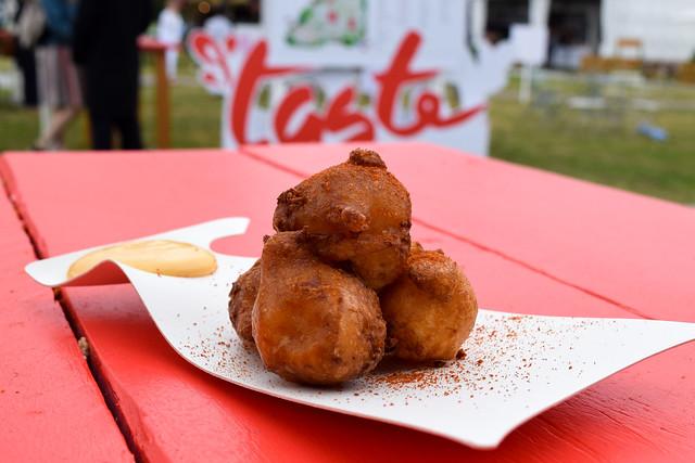 Lobster Doughnuts from Club Gascon #lobster #doughnuts #tasteoflondon