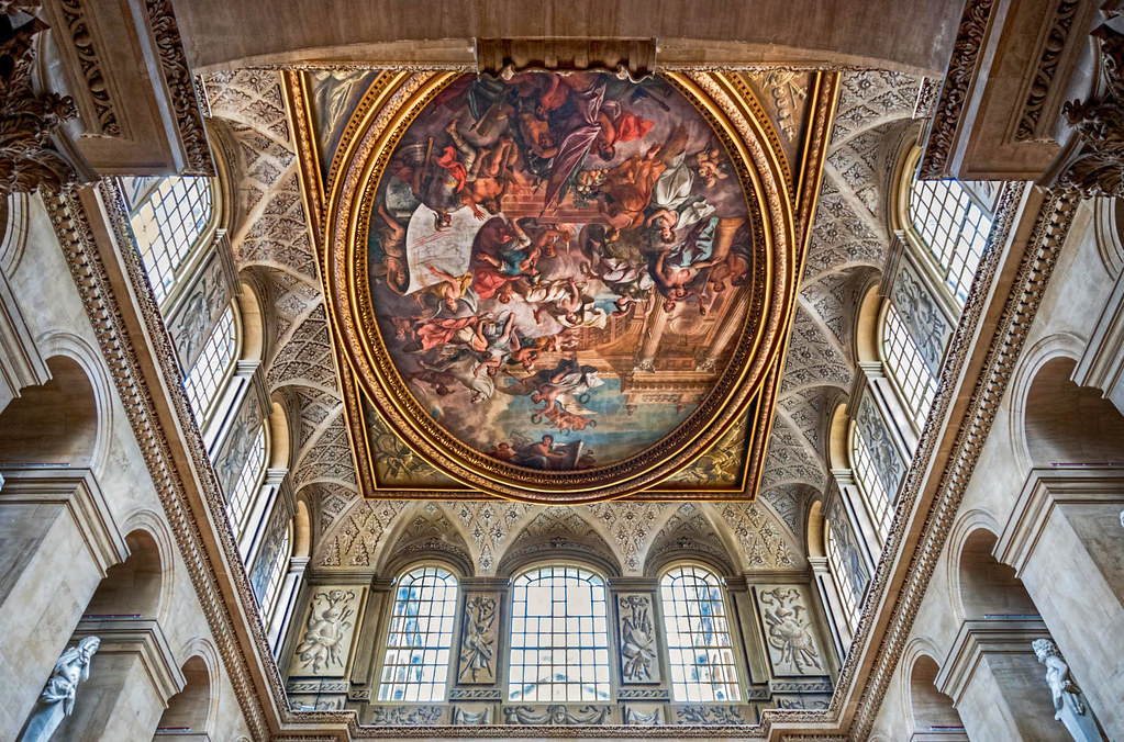 Ceiling of the Great Hall, Blenheim Palace. Credit Gary Ullah