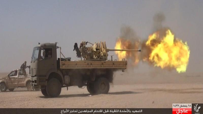 57mm-S-60-truck-ISIS-q-raqqah-area-2016-obs-1