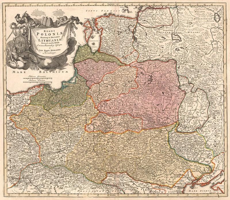 Johann Baptist Homann - Regni Polonia Magnique Ducatus Lithuania (1716)