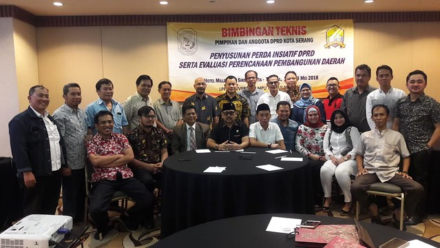 23 Mei 2018 Bimbingan Teknis Penyusunan Perda Inisiatif DPRD Serta Evaluasi Perencanaan Pembangunan Daerah