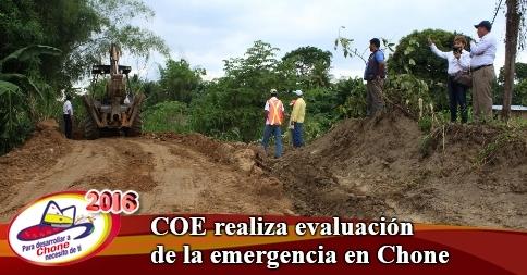 COE realiza evaluación de la emergencia en Chone