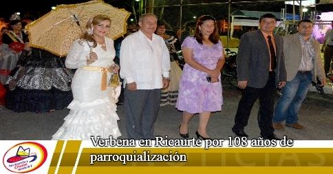 Verbena en Ricaurte por 108 años de parroquialización