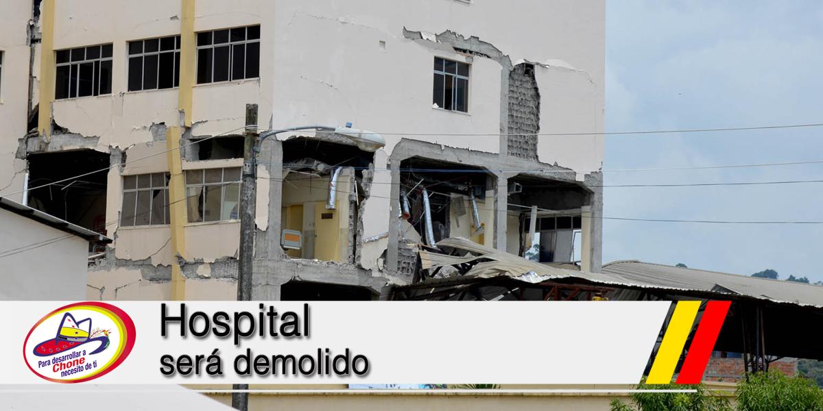 Hospital será demolido