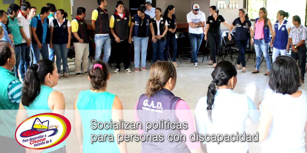 Socializan políticas para personas con discapacidad
