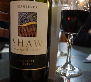 A local Merlot by Shaw vineyard estate 2013