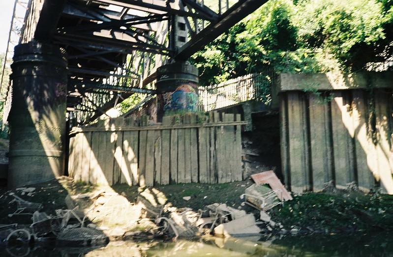 Under the Brunel railway bridge