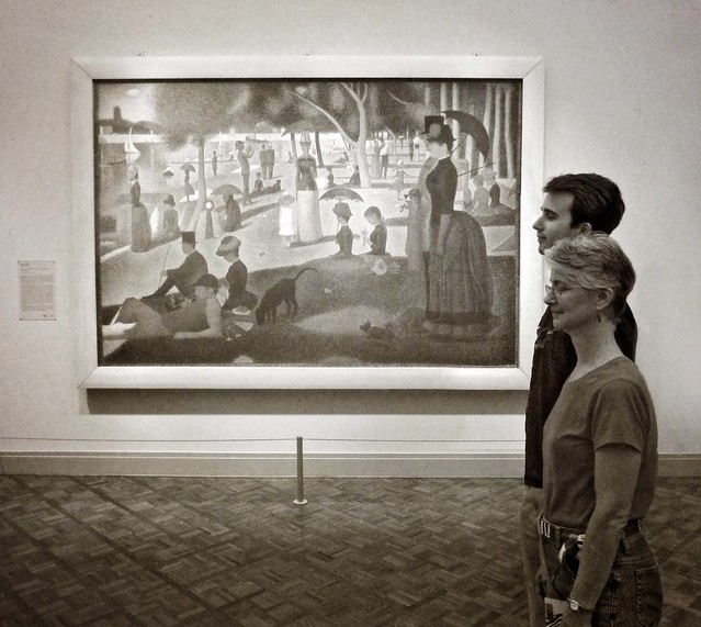 c & b and a picture of a sunday afternoon on the island of la grande jatte