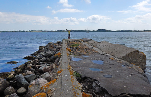 the old abandoned wharf at Siø, a farm on an island in Denmark