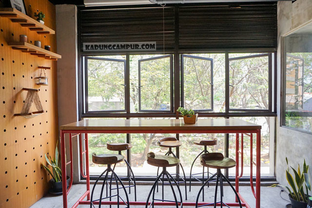 routine coffee and eatery bintaro seating with a view - kadungcampur