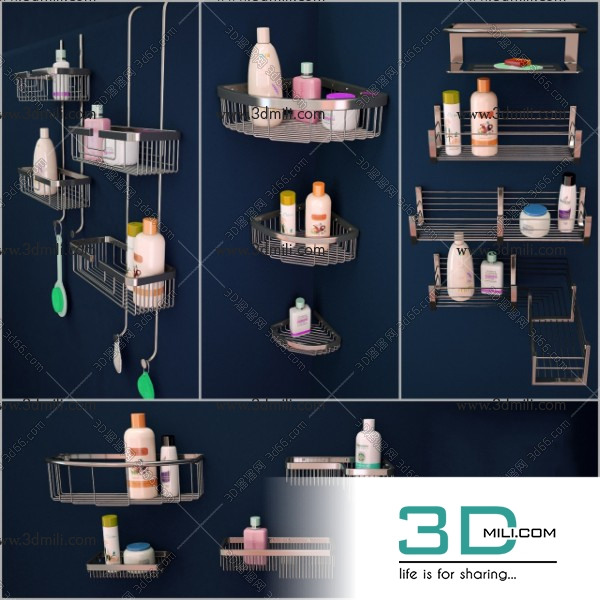 3dSkyHost: 01. Bathroom accessories 3dsmax File Free Download