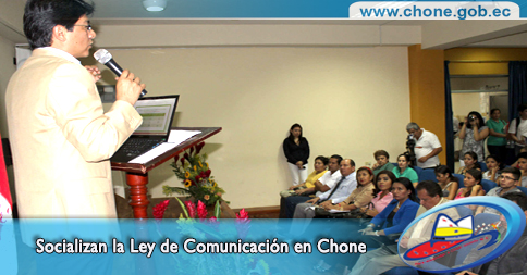 Socializan la Ley de Comunicación en Chone