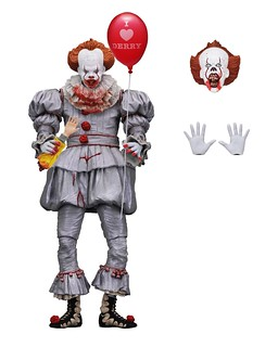"NECA It Ultimate Pennywise 7"" Figure is Bloodier and Scarier than Ever!! (Only at GameStop)"