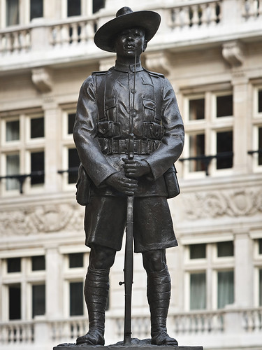 The statute which is the memorial to the Brigade of Gurkhas was unveiled by Queen Elizabeth in 1997 and is located in Whitehall London and recognised the contribution made by the Gurkhas to the United Kingdom