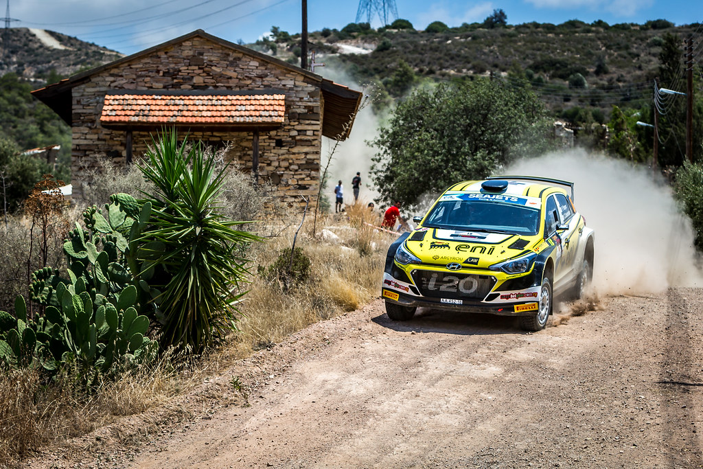 16 YIANGOU Panayiotis (CYP) CONSTANTINOS Constantinou (CYP), YIANGOU MOTORSPORT LTD, HYUNDAI N6 i20 R5, action during the 2018 European Rally Championship ERC Cyprus Rally,  from june 15 to 17 at Larnaca, Cyprus - Photo Thomas Fenetre / DPPI