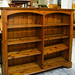 Pine low long open bookcase E180