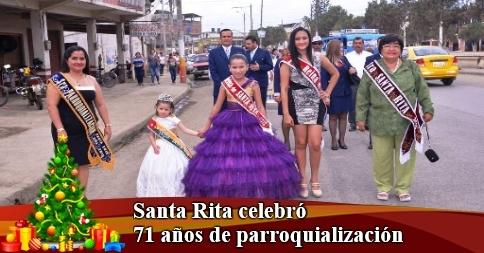 Santa Rita celebró 71 años  de parroquialización