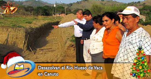 Desazolvan el Río Hueso de Vaca en Canuto