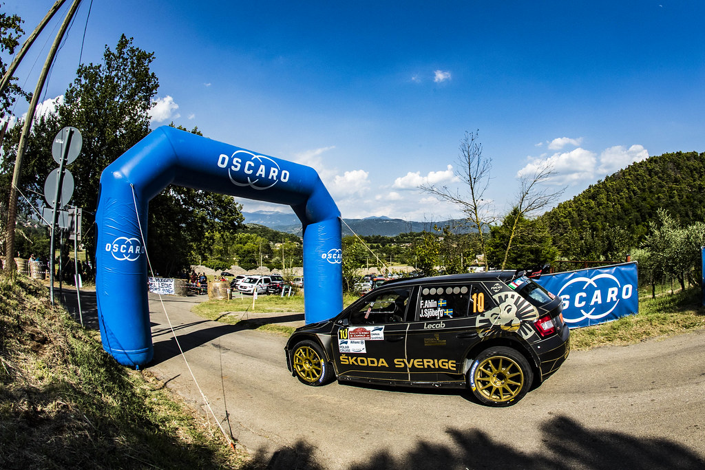 10 Fredrik Ahlin (SWE), Joakim Sjoberg (SWE), SKODA FABIA R5, during the 2018 European Rally Championship ERC Rally di Roma Capitale,  from july 20 to 22 , at Fiuggi, Italia - Photo Gregory Lenormand / DPPI