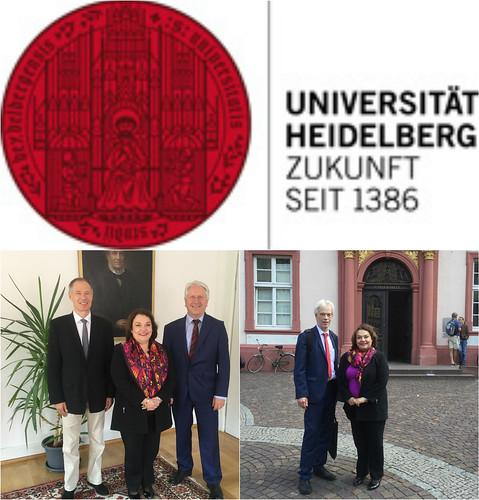 Visita de la Cónsul Villanueva a la Universidad Ruperto Carola de Heidelberg