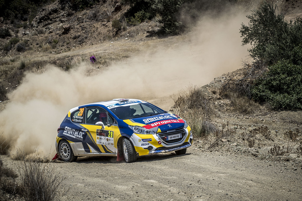 28 MUNNINGS Catie (GBR), SANCHEZ Alba (SPA), SAINTELOC JUNIOR TEAM, PEUGEOT 208, action during the 2018 European Rally Championship ERC Cyprus Rally,  from june 15 to 17  at Larnaca, Cyprus - Photo Gregory Lenormand / DPPI