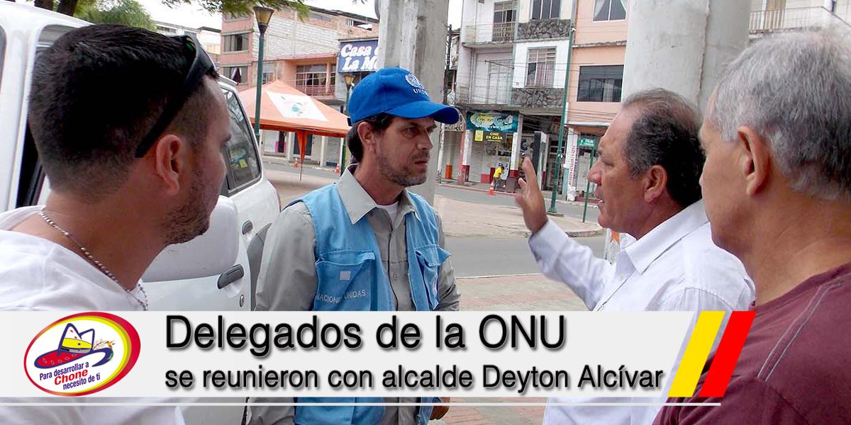 Delegados de la ONU se reunieron con alcalde Deyton Alcívar