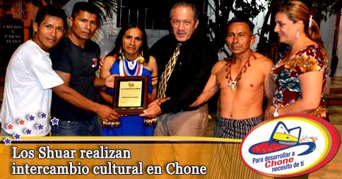 Los Shuar realizan intercambio cultural en Chone
