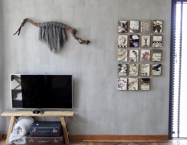 Sid Dickens tegeltjes tv meubel tak met wol