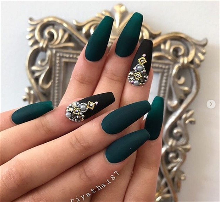 Emerald Green Nail Designs Hd Images Wallpaper For Downloads
