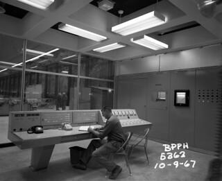 Boundary Dam control room, 1967
