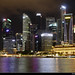 Skyline seen from the Waterfront Promenade at Night, Singapore by JH_1982