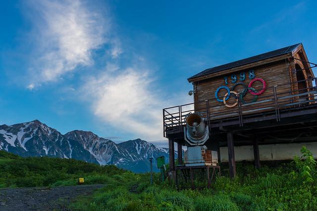長野オリンピック・女子滑降のスタートハウス@黒菱平